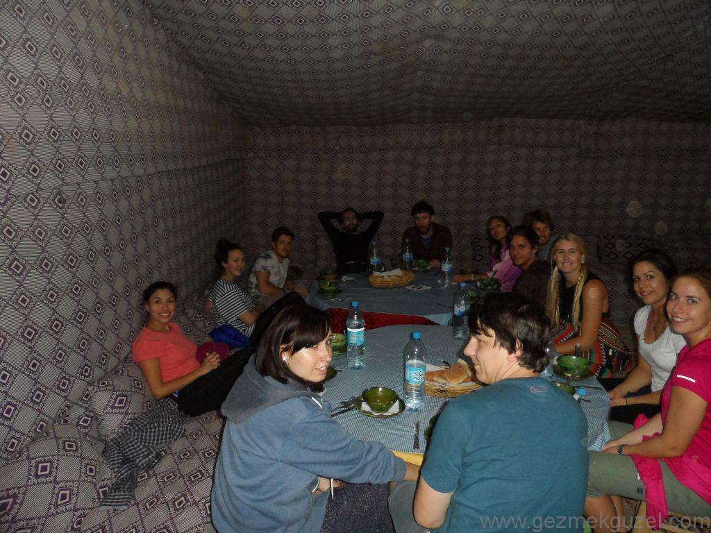 Çöl Konaklaması Yemek Çadırı, Zagora, Fas