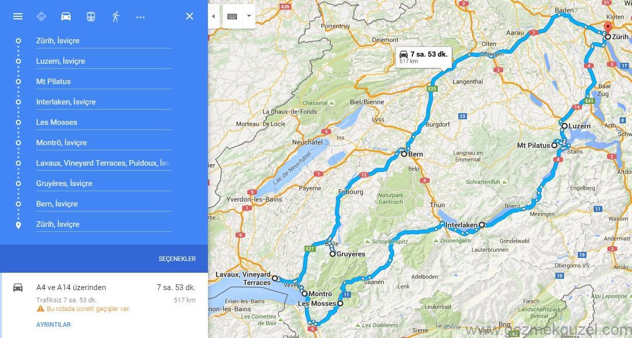 İsviçre Seyahat Planı