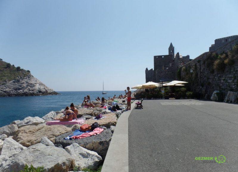 Porto Venere Kalesi ve Sahili, La Spezia