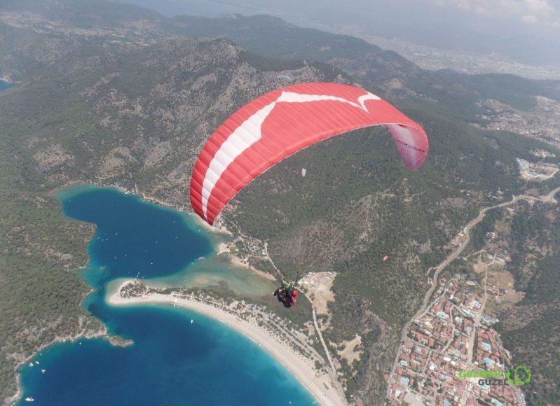 Ölüdeniz Manzarası, Fethiye Yamaç Paraşütü; Babadağ'dan Tandem Uçuşu