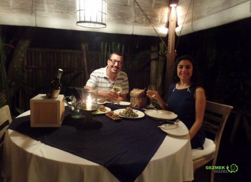 Akşam Yemeği, Villa Shamballa Bali, Bali'de Balayı