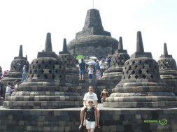 Bobobudur tapınağının cennet bölümünde