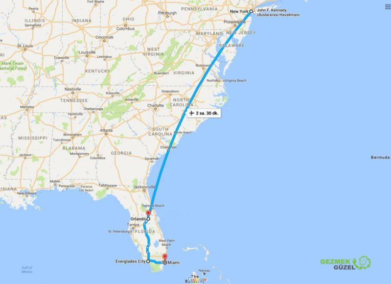 Amerika gezi planı, New York, Miami, Orlando Gezisi Notları 1