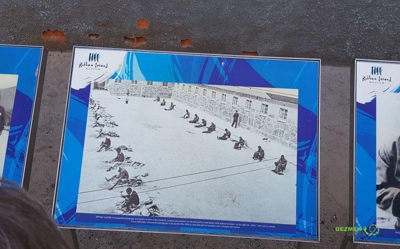 Robben Adası Turu, mahkumlar çalıştırılırken
