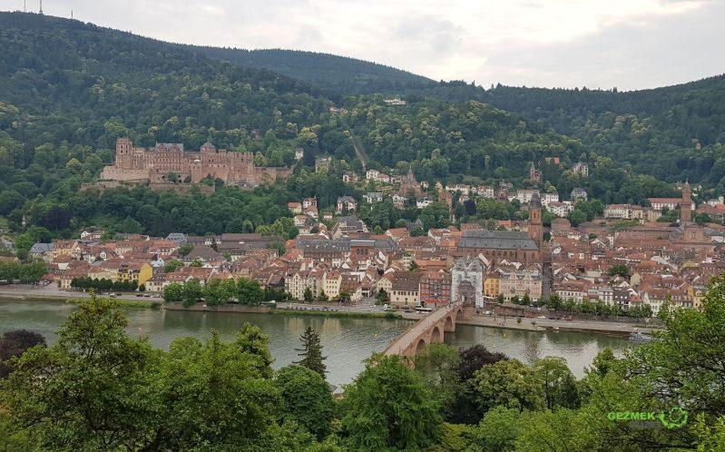 Philosophenweg'den Manzara, Heidelberg Gezilecek Yerler