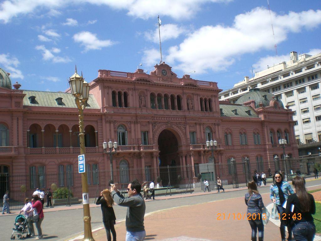 Eva Peron'un konuşma yaptığı balkon, arjantin