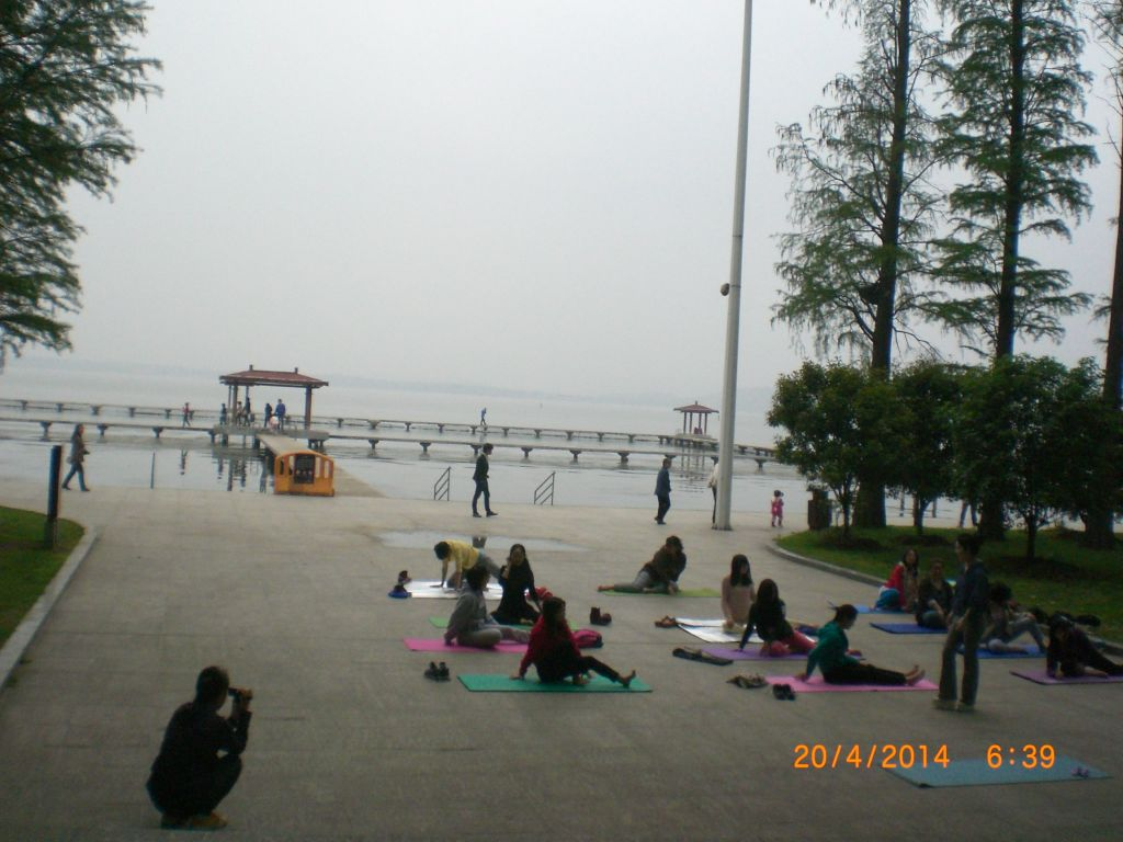 Wuhan East Lake parkında