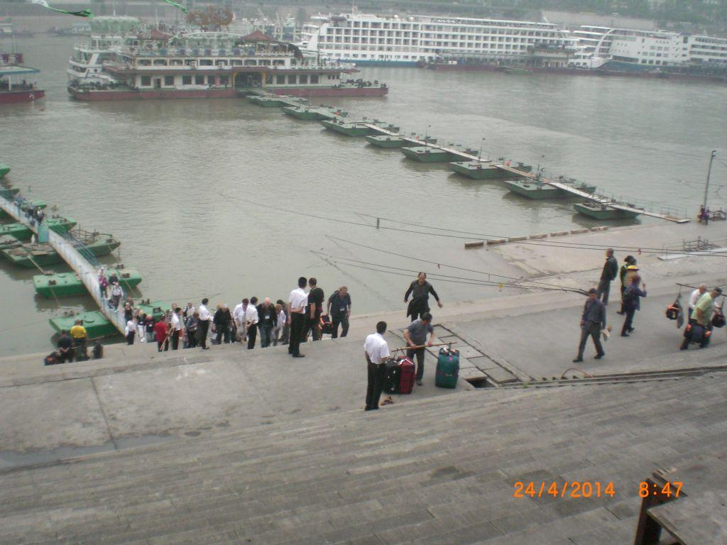Chongqing'de gemiden ayrılış