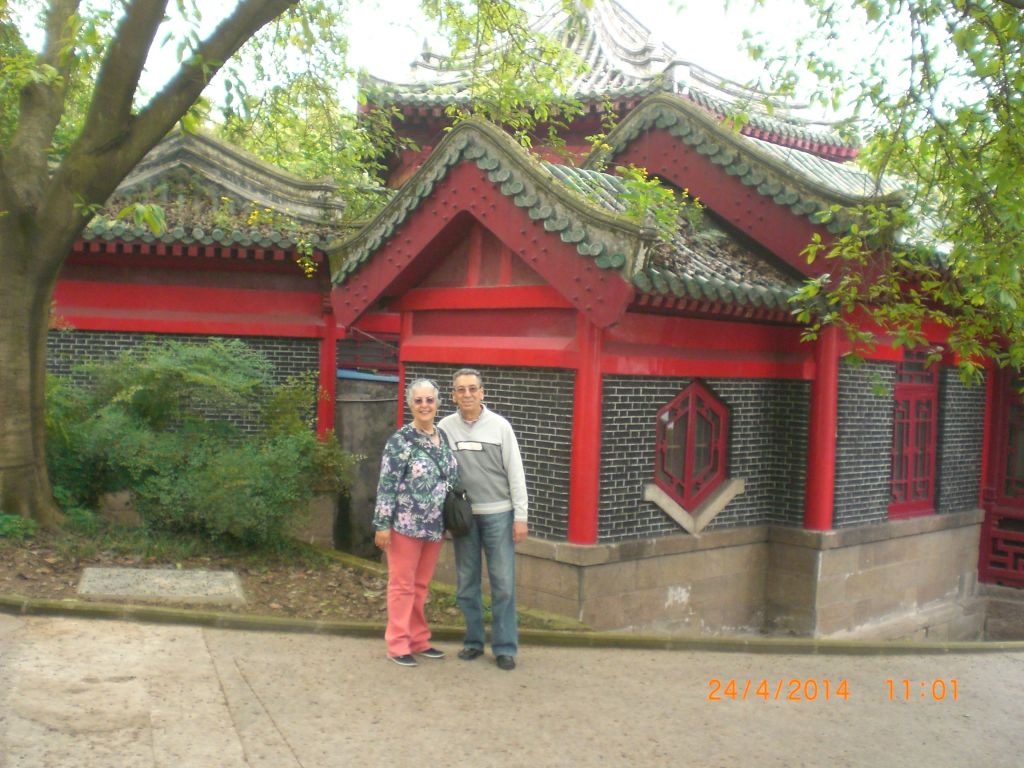 Chongqing Eling parkında