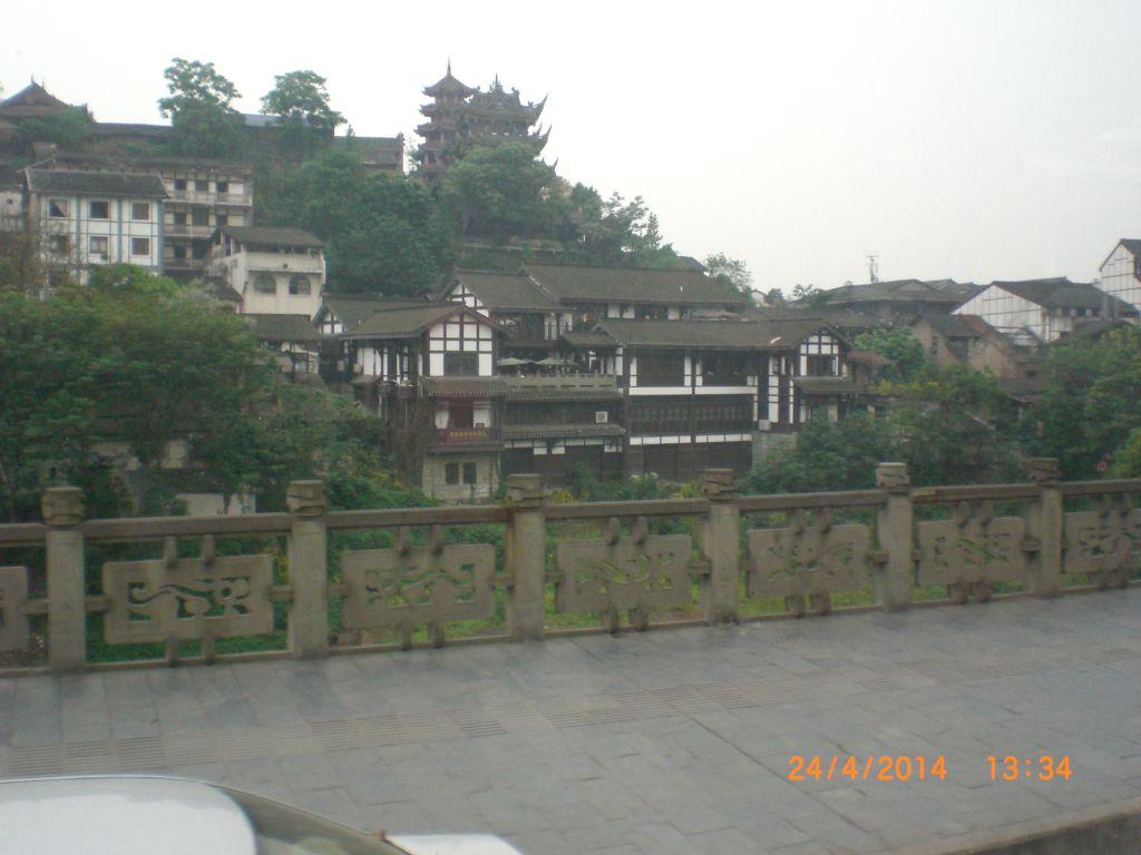 Chongqing'de nehir kenarı
