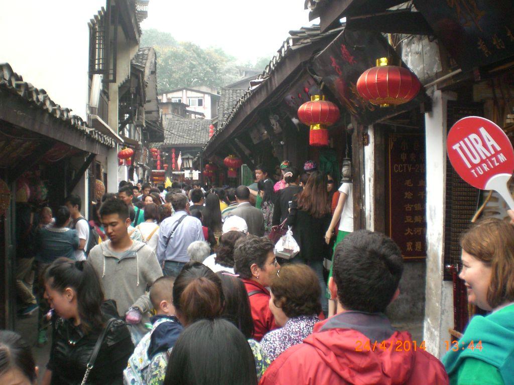 Chongqing'de çarşı