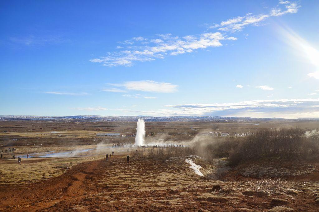 İzlanda Haukadalur Gayzeri