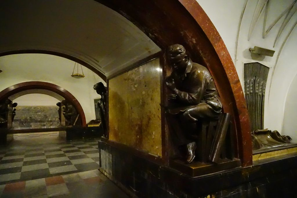Moskova'nın sanatsal metro istasyonları