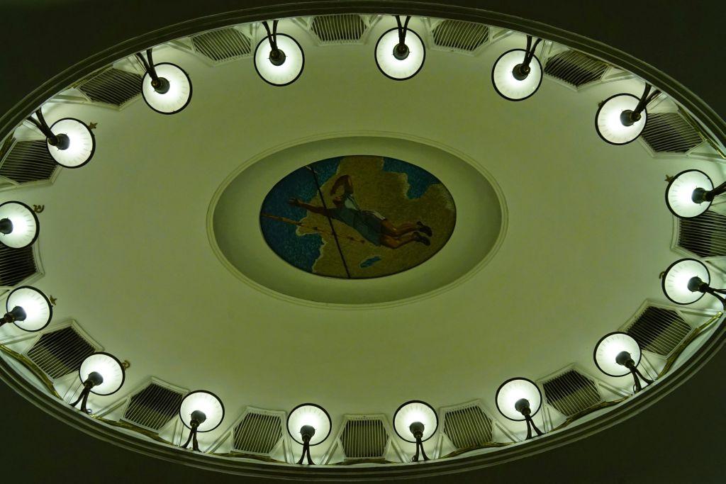 Moskova metrosunda sanat