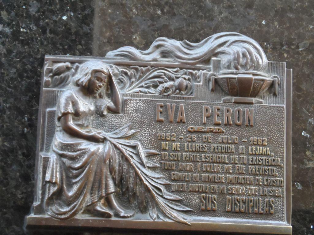 Eva Peron'un mezar tabelası