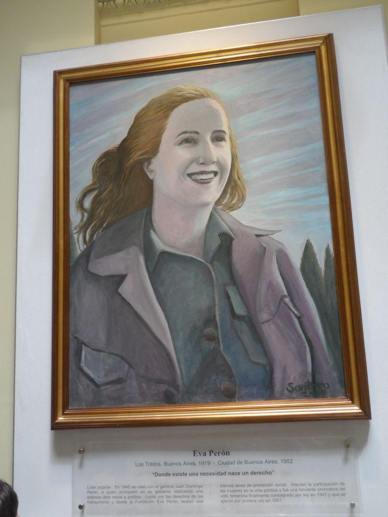Eva Peron'un portresi