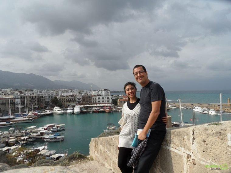 Kıbrıs Gezisi, Girne Kalesinden Girne Limanına Bakarken