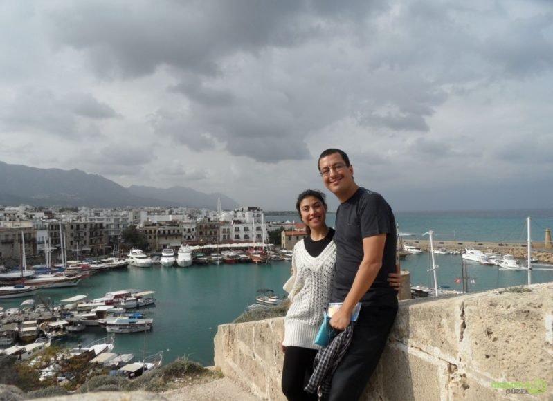 Kıbrıs Gezisi, Girne Kalesinden Girne Limanına Bakarken Girne Gezilecek Yerler