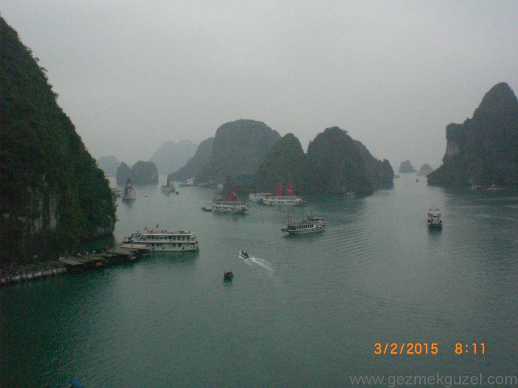 Laos - Kamboçya - Vietnam Gezisi Notları, Halong Gezisi Notları, Hang Sun Sot Mağarasından Manzara
