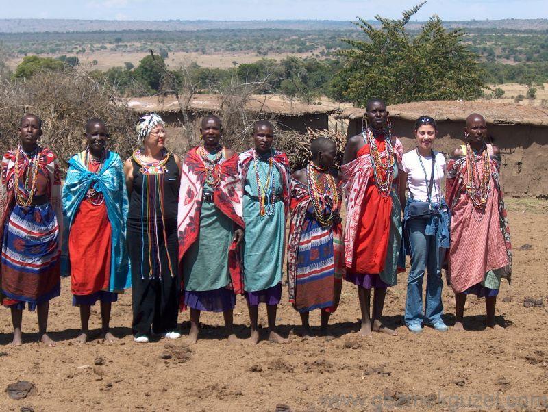 Maasai Yerli Halkı Yerel Dans Kenya
