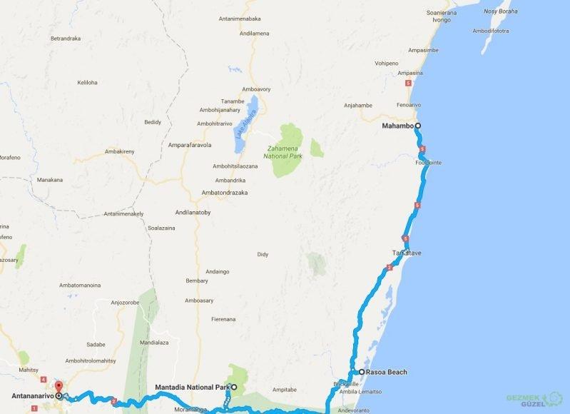 Madagaskar Gezi Planı, Madagaskar Gezisi Notları
