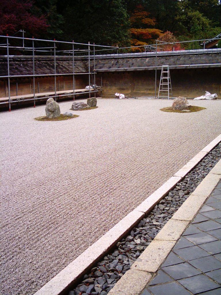 Taş bahçeli Ryoanji tapınağı