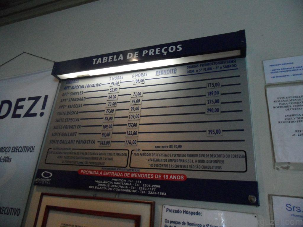 Rio de Janerio Otelimizin Saatlik Fiyat Çizelgesi, Rio Gezisi, Brezilya Gezisi Notları