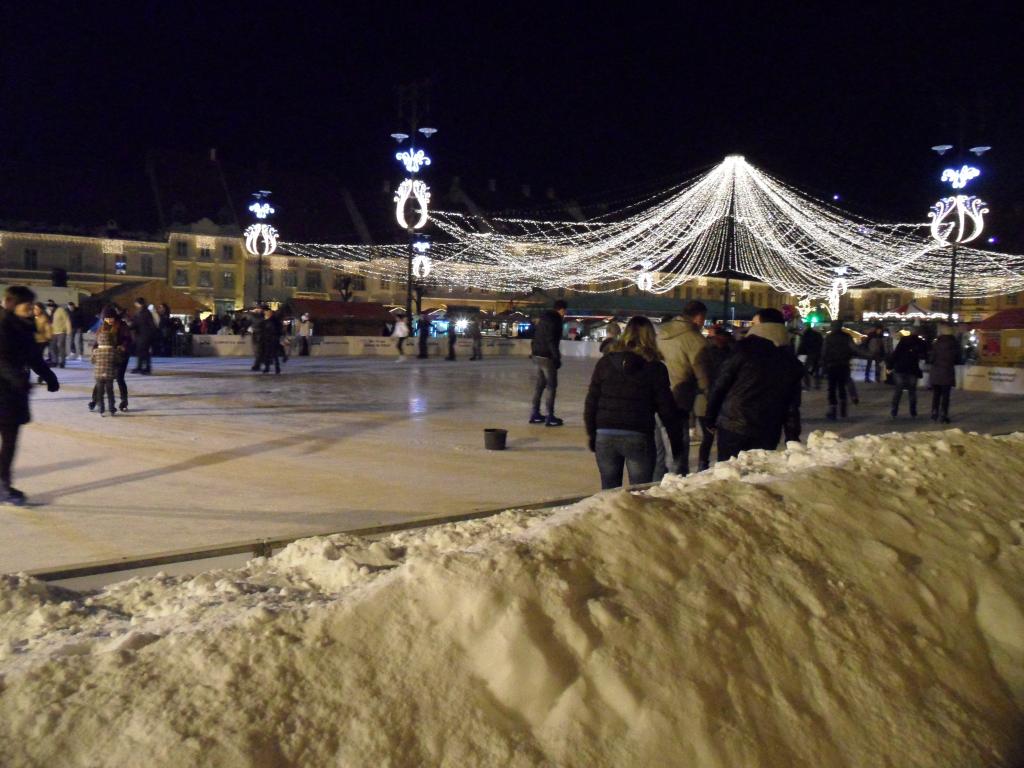 Sibiu'da noel pazarı