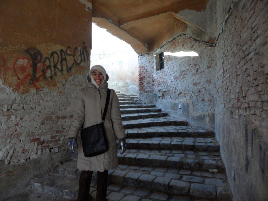 Sighişoara'da merdivenler