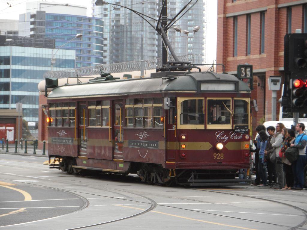 35 Numaralı ücretsiz Melbourne tramvayı