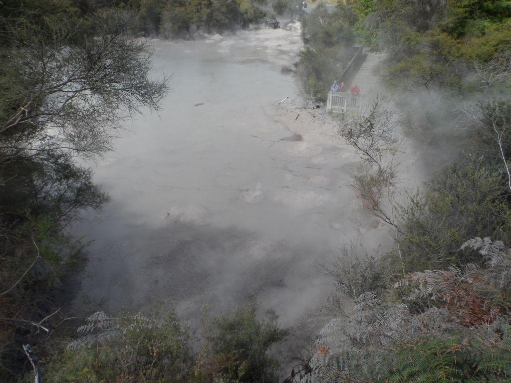 Wai-O-Tapu'da çamur havuzları