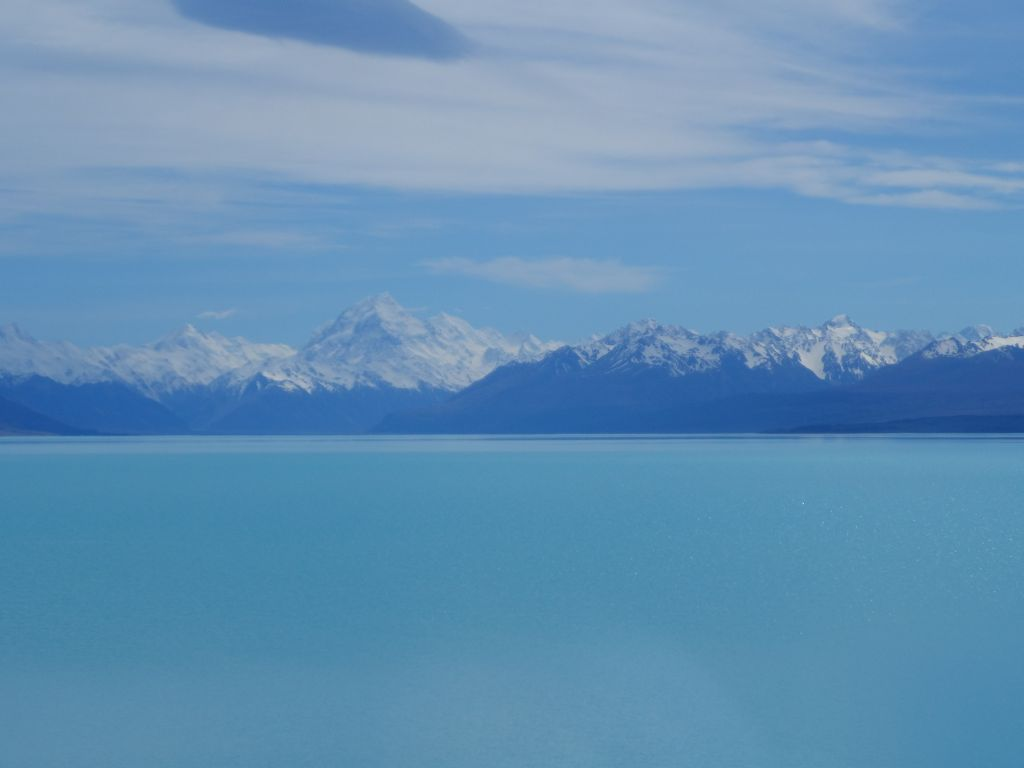 Tekapo gölünden Cook dağı