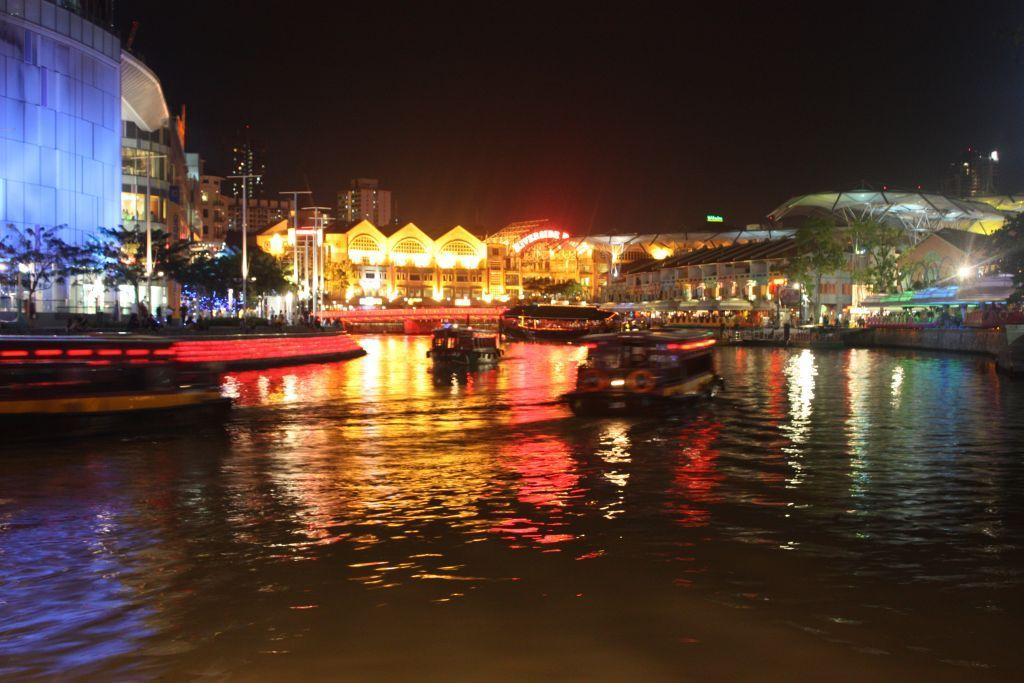 Gece Singapur Nehri