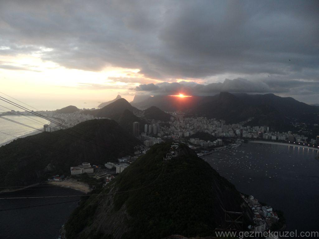 Sugar Loaf'ta Güneş Batışı Kızıllığı, Rio Gezisi, Brezilya Gezisi Notları