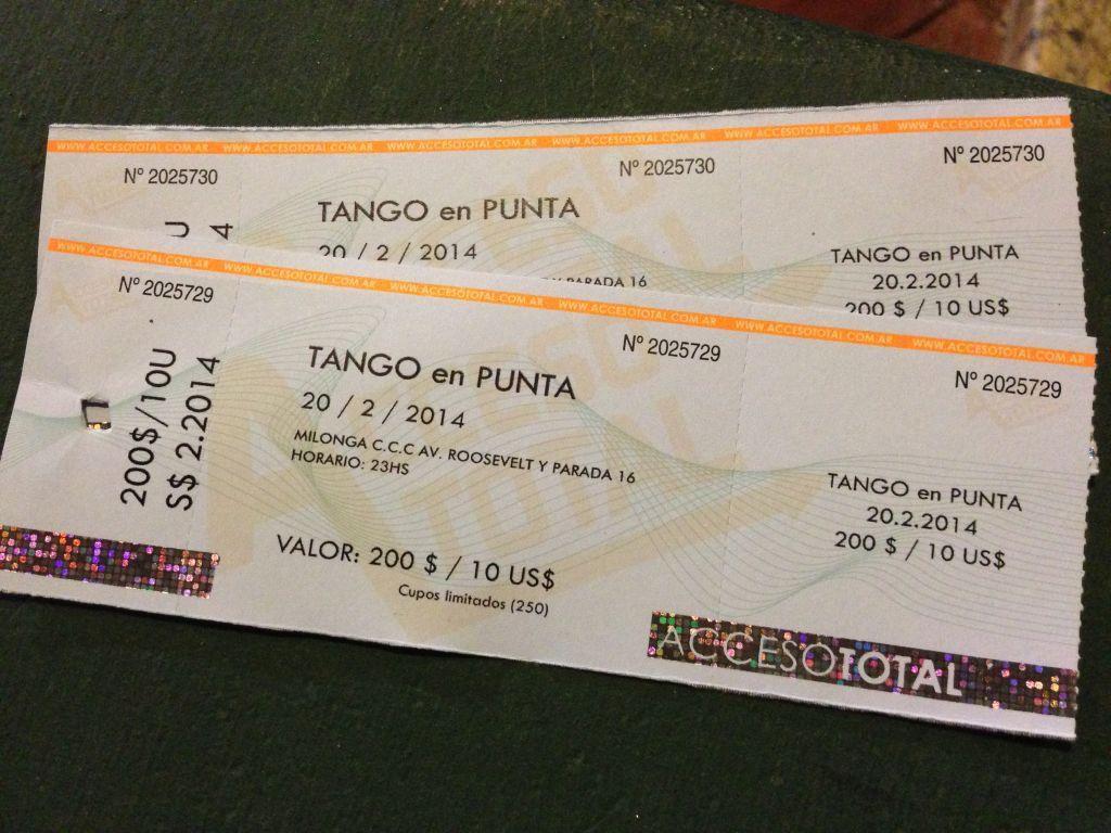 Tango En Punta biletleri