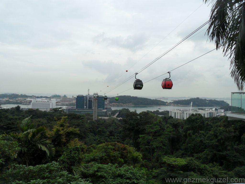 Yeniden Uzakdoğu, Singapur Gezilecek Yerler, Sentosa Adası Teleferiği