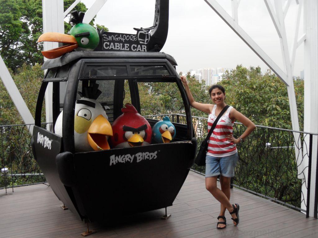 Yeniden Uzakdoğu, Singapur Gezilecek Yerler, Sentosa Adası Teleferiğinde Angry Birds