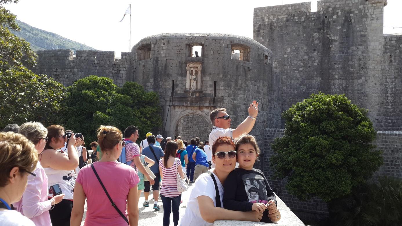 Dubrovnik'e girişte