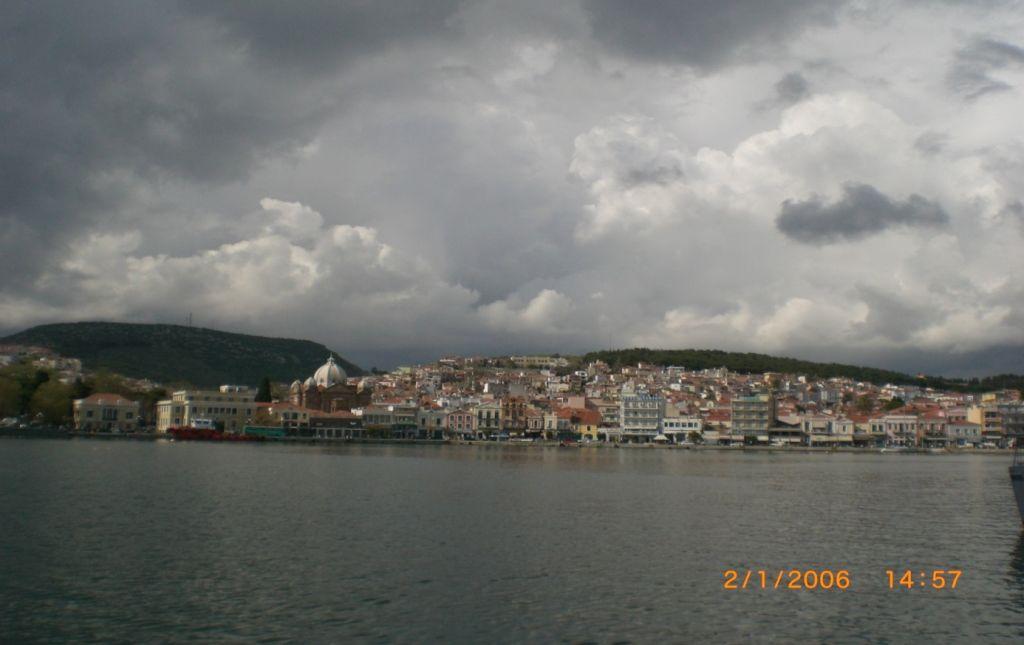 Midilli Adasına yaklaşırken