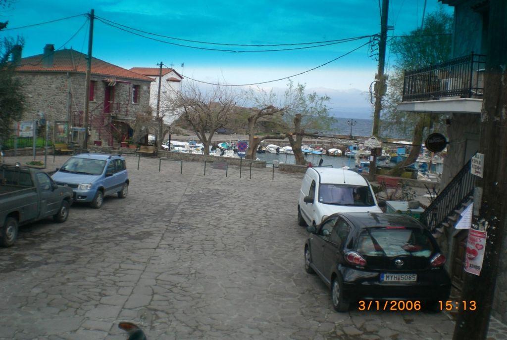 Şirin Skala Skamnias kasabasından görüntü